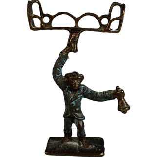 Antique Bronze Card Holder in the Form of a Monkey