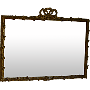Vintage Louis XV Style Over Mantle Mirror