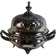 Victorian Rogers Silverplate Domed Butter Dish Silver Plate