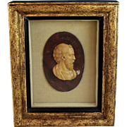 Grand Tour Roman Marble Relief Portrait of Numa Pompilius