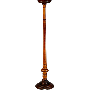 Antique Turned Wood Tall Hat Stand 25""