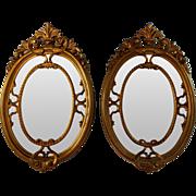 Set of Vintage Italian Parcel Gilt Mirrors