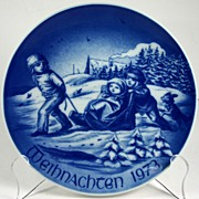 Bareuther Porcelain Christmas Plate 1973