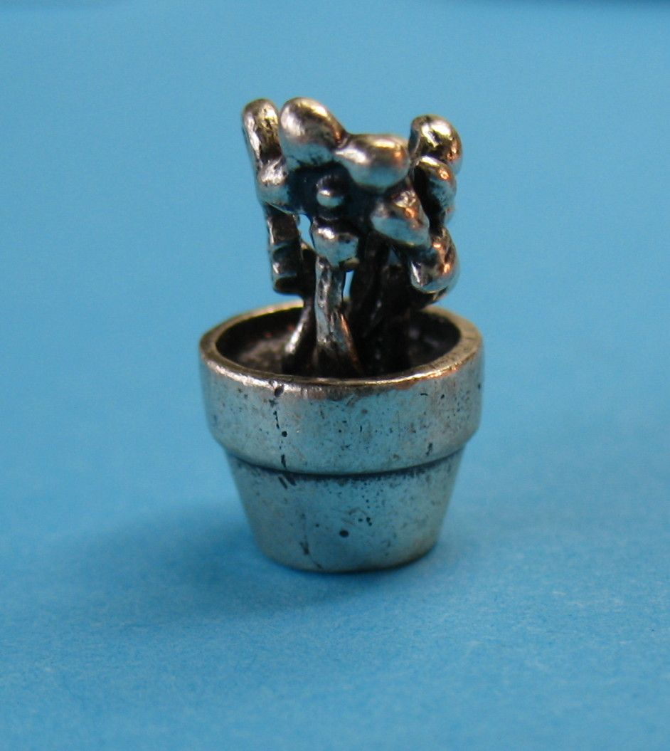 Vintage Sterling Silver RARE Flower Pot by Cellini
