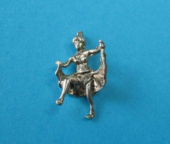 Vintage Sterling Silver Beach Bathing Female Charm - RARE