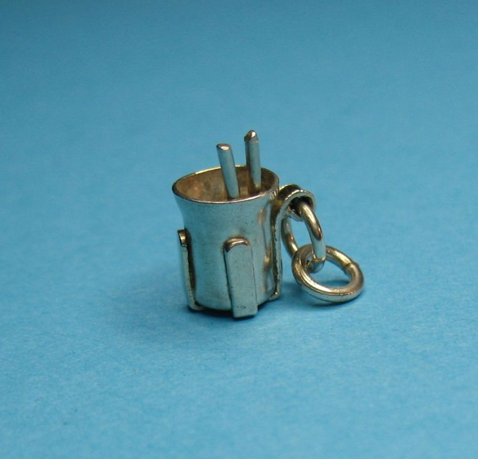 Vintage Sterling Silver Milkshake For Two Bracelet  Charm