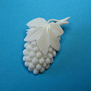 Vintage Celluloid Plastic Grape Brooch Pin
