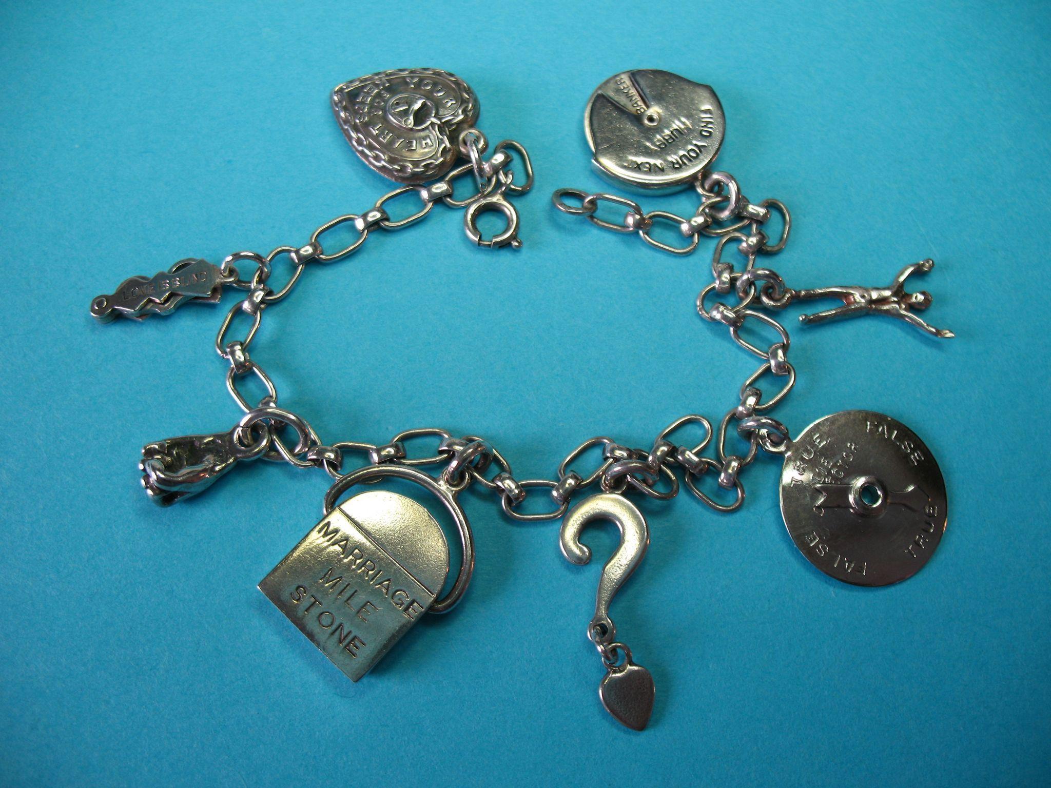 Vintage Sterling Silver Charm Bracelet - RARE Georg Jensen
