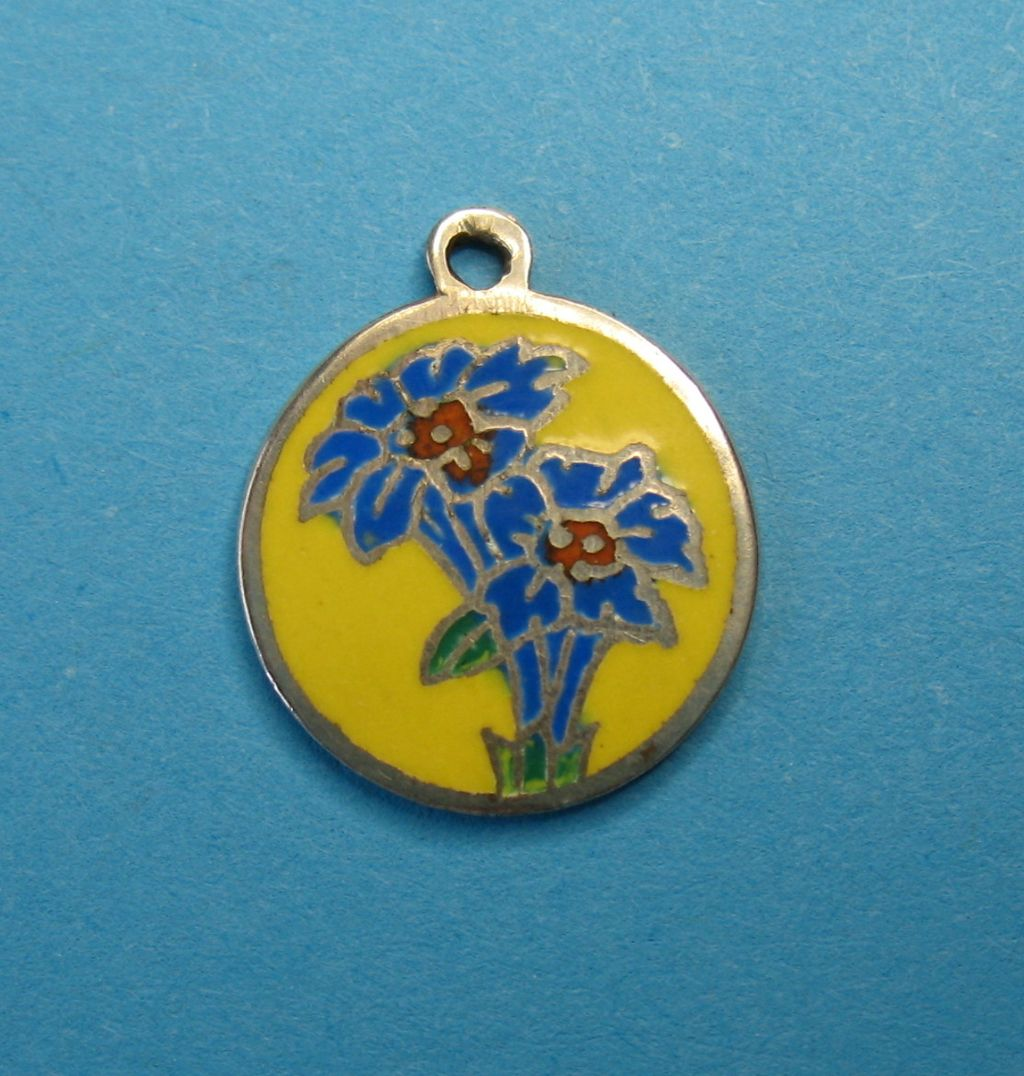 Vintage Sterling Silver Enameled Charm ~ Thailand ~