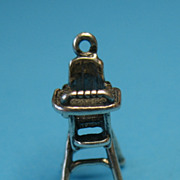 Vintage Sterling Silver High Chair With Bead Play Station Charm