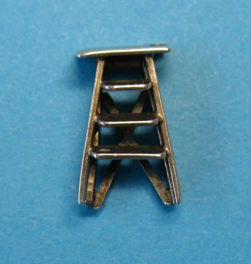 Vintage Sterling Silver Movable Ladder Charm