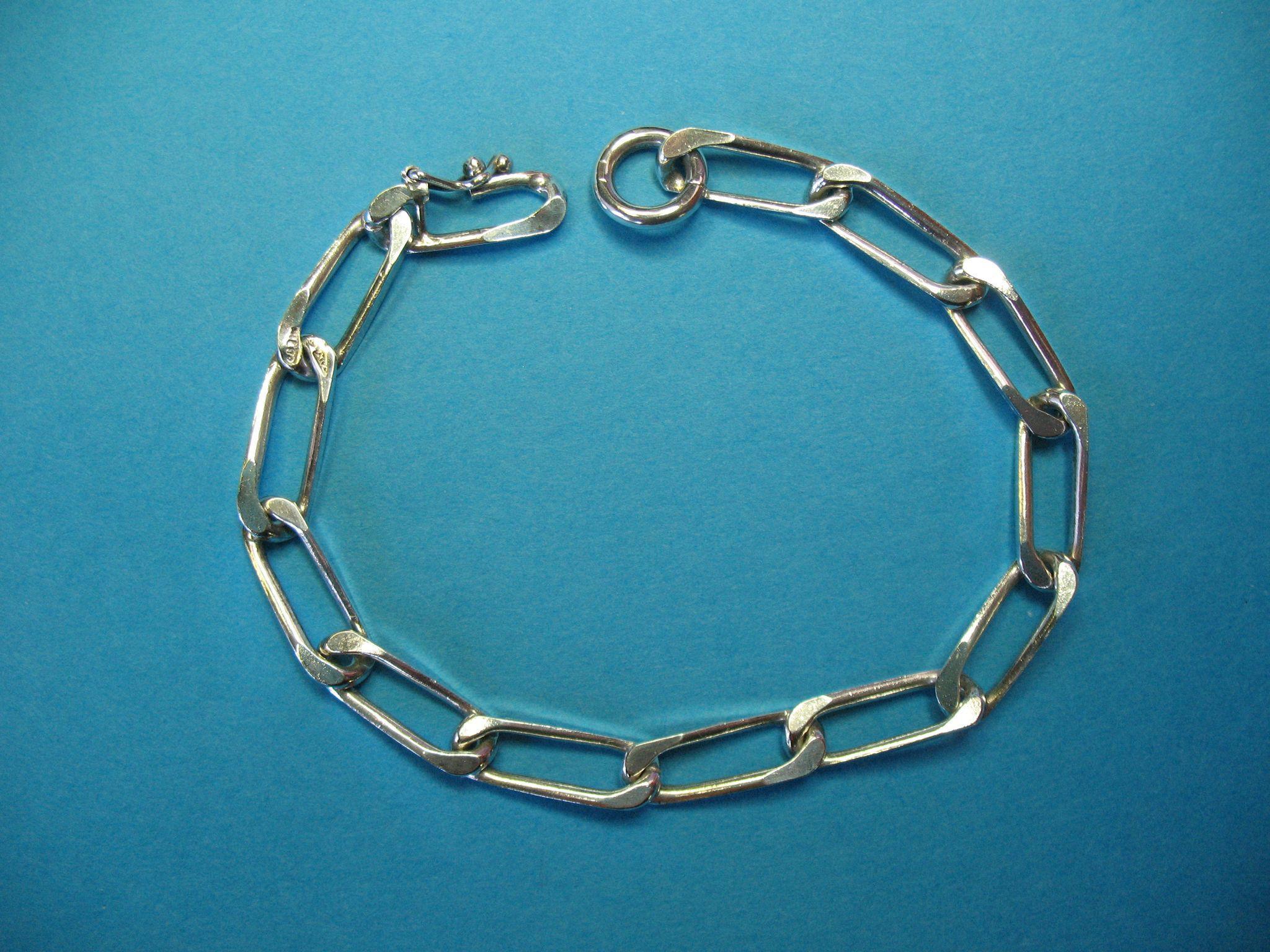 Vintage Italian Milor Sterling Silver Large Link Bracelet