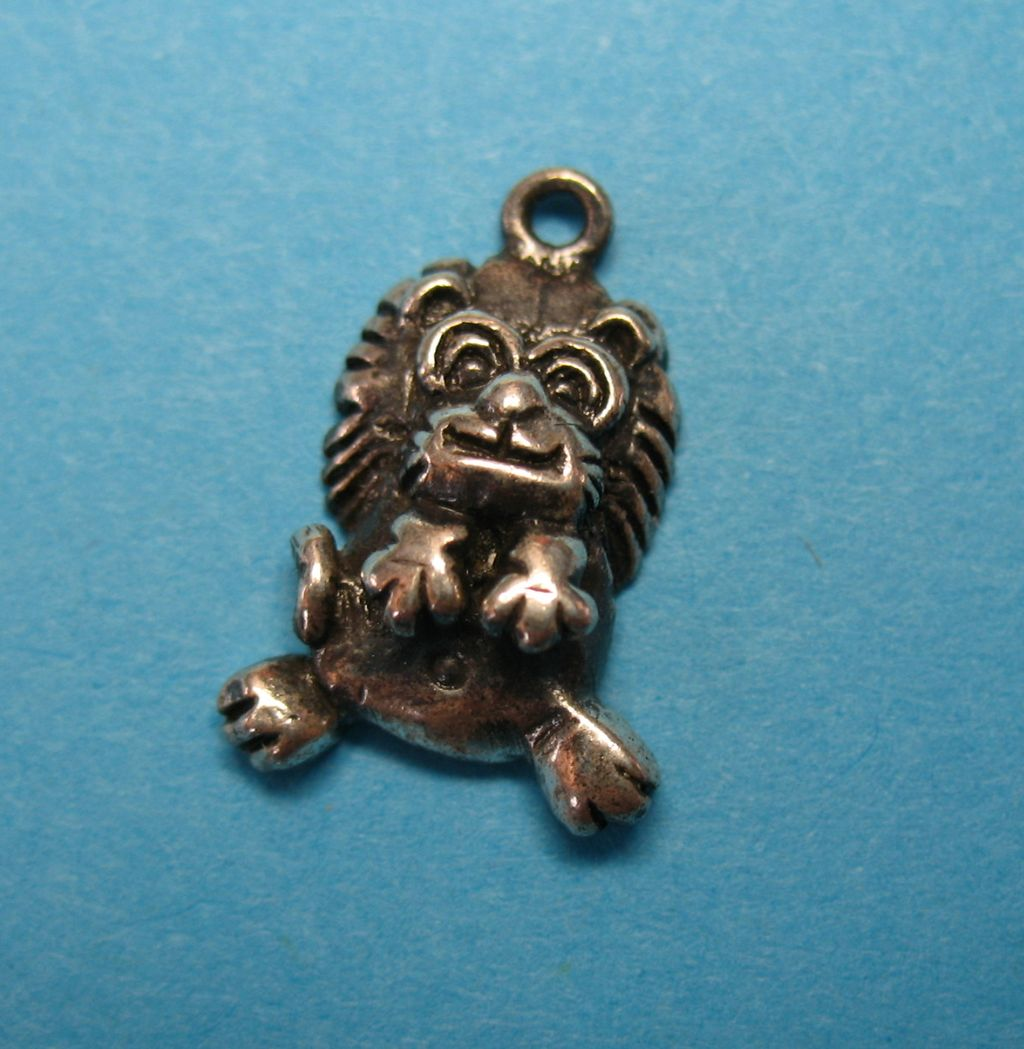 "Vintage Sterling Silver Lion Charm ""So Cute"""