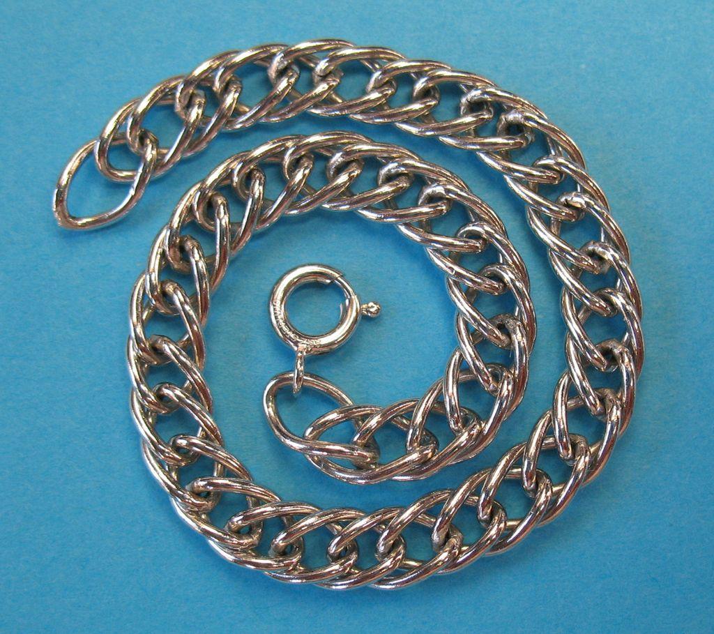 """Vintage Sterling Silver Starter Charm Bracelet 7 1/4"""""""
