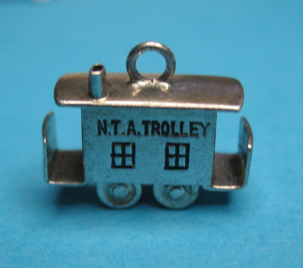Vintage Sterling JMF Articulated Trolley Charm 1940s