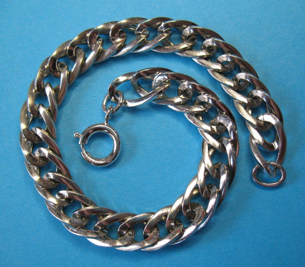 """Vintage Sterling Silver Starter Charm Bracelet 7 1/2"""""""