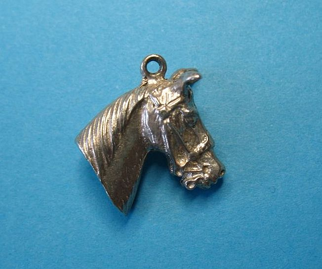 Vintage Sterling Silver Horse Head Charm - Beautiful!