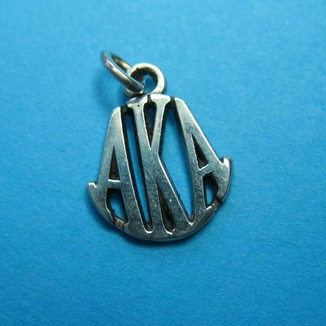 "Vintage Sterling Silver ""AKA"" Charm"