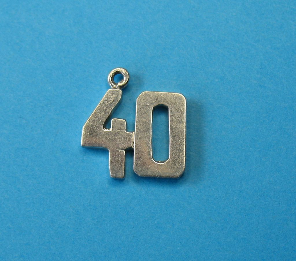 Vintage Sterling Silver Number 40 Charm