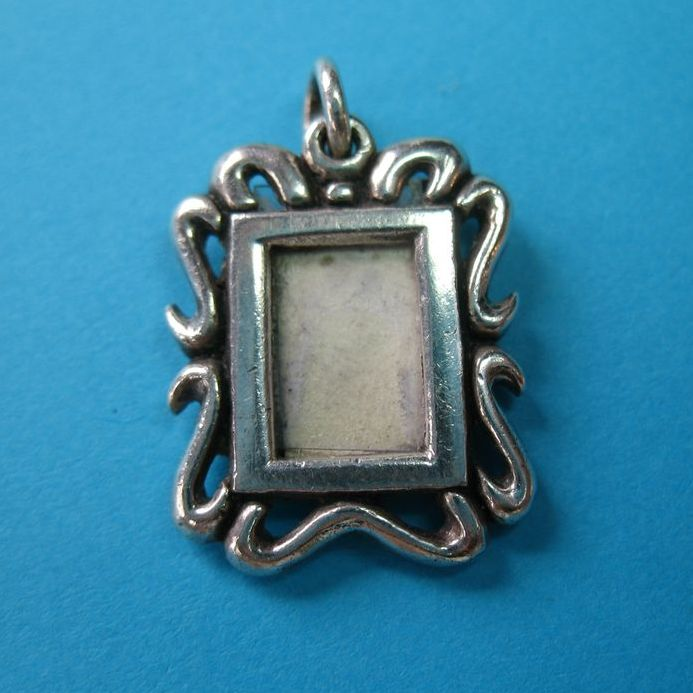 Vintage Sterling Silver Picture Frame Charm Pendant