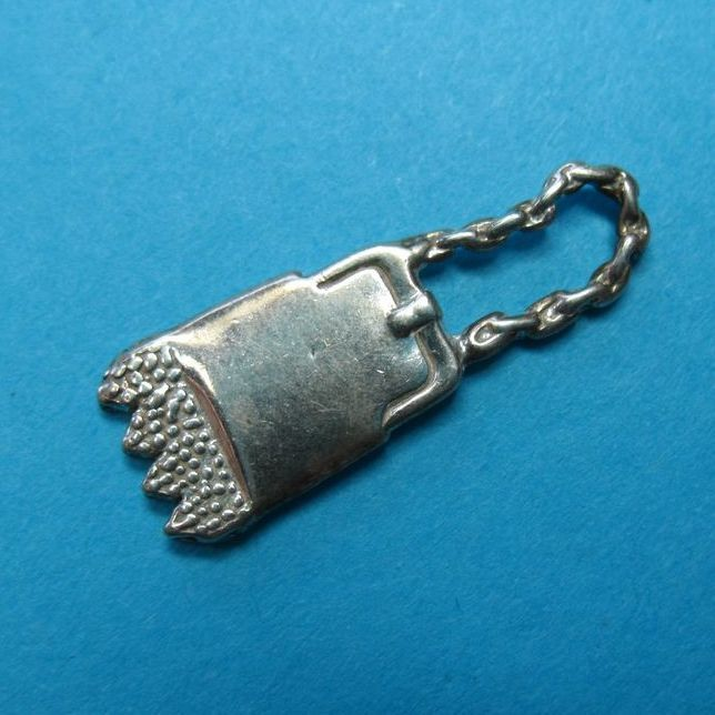 Vintage Sterling Silver Purse Charm