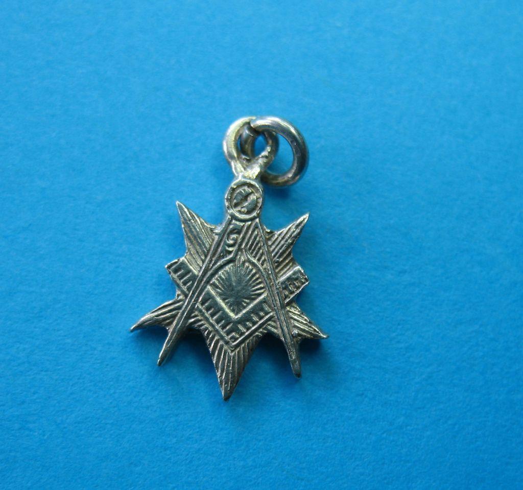 Sterling Masonic Symbol Charm - Rare