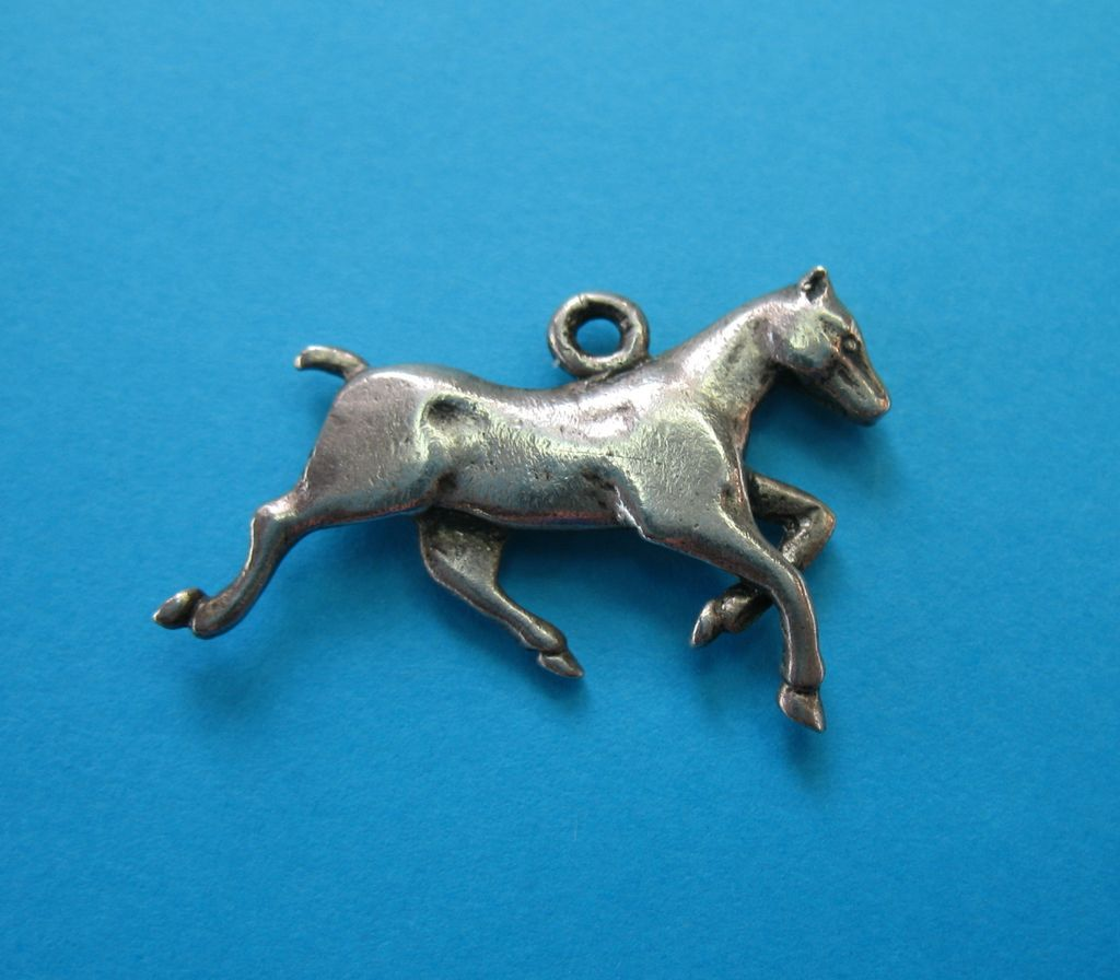 Sterling Silver Horse Charm - Dressage