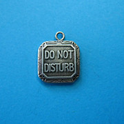 """Vintage 1940's Sterling """"Do Not Disturb"""" Charm"""