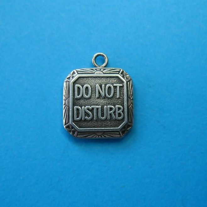 "Vintage 1940's Sterling ""Do Not Disturb"" Charm"