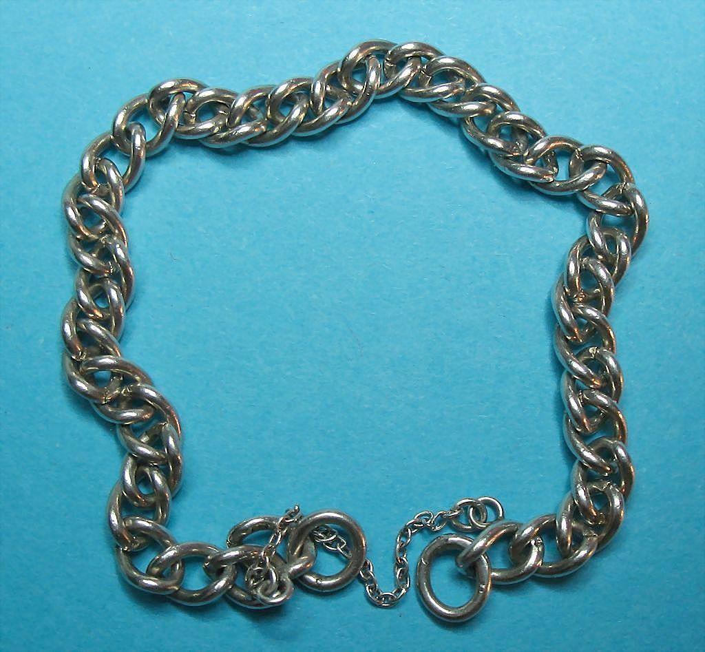Vintage English Sterling Silver Charm Bracelet