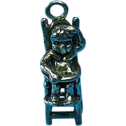 Vintage Sterling Boy Sitting In A Highchair Charm