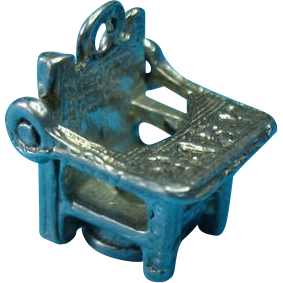 Vintage Sterling Silver Baby Potty Chair Charm