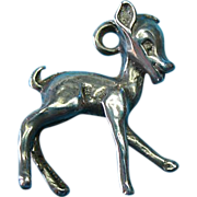 Vintage Sterling Silver Bambi Charm
