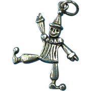 Vintage Sterling Articulated Clown Charm