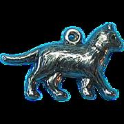 Vintage Sterling SilverJMF Cat Charm