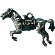 Vintage Sterling Silver Horse Charm - Beautiful!