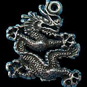 Vintage Sterling Oriental Dragon Bracelet Charm