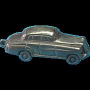 Vintage Sterling Silver Rare Puffy Luxury Sedan Car Charm