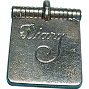 Vintage Sterling Silver Diary Charm With Six Names Inside
