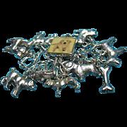 Vintage Sterling Silver Dog Theme Charm Bracelet #2