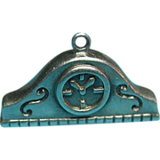 Vintage Sterling Silver Mantel Clock Charm
