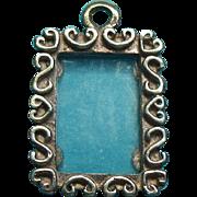 Vintage Sterling Silver Picture Frame Charm