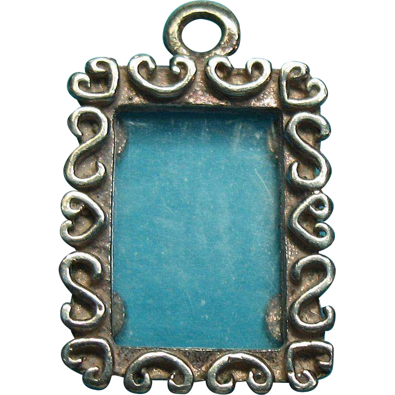 Vintage Sterling Silver Picture Frame Charm