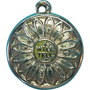 "Vintage 14k Gold ""I WILL TELL YOU"" Daisy Flower ""I LOVE YOU"" Charm"