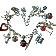 Vintage Sterling Silver Mixed Charm Bracelet