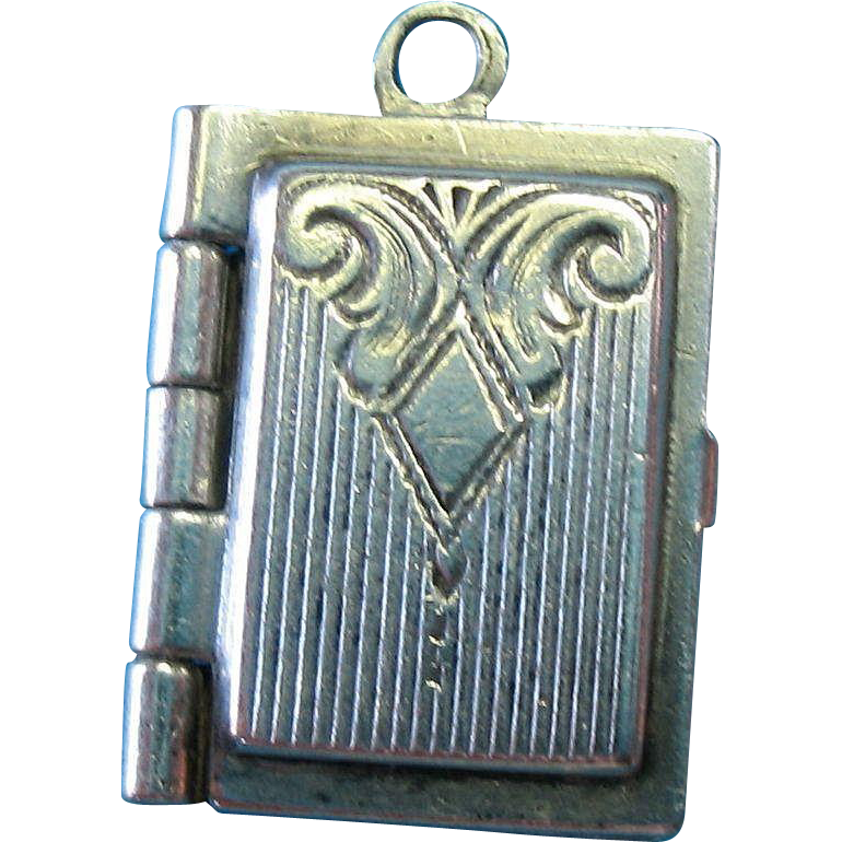 Vintage Sterling Silver Art Deco Picture Locket Charm