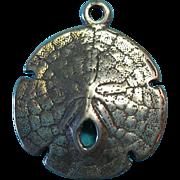 Vintage Sterling Silver Sand Dollar Charm