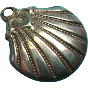 Vintage Sterling Silver Scallop Charm