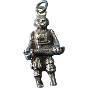 Vintage Sterling Silver Peg-leg Pirate with Sword Charm
