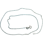 """Vintage Sterling Silver 16"""" Delicate Necklace Chain"""
